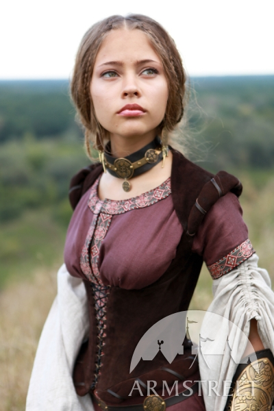 medieval-flax-linen-dress-archeress-with-undertunic-and-corset-4