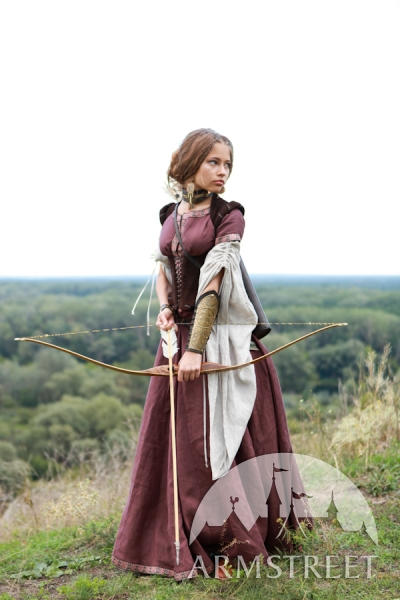 medieval-flax-linen-dress-archeress-with-undertunic-and-corset-5
