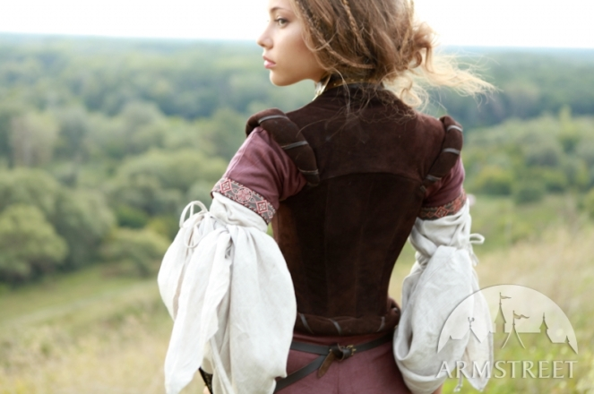 medieval-flax-linen-dress-archeress-with-undertunic-and-corset-7
